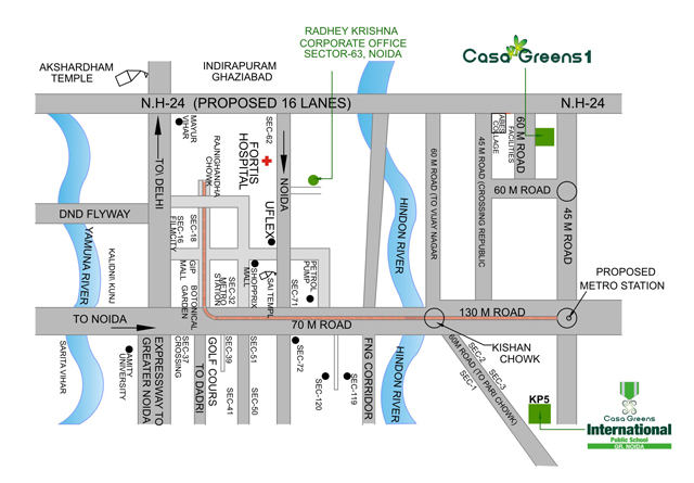 Casa Greens Location Map